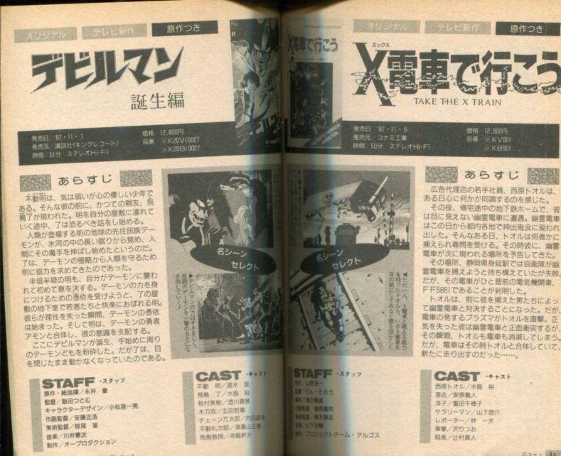 画像2: THE ENCYCLOPEDIA OVA オリジナルアニメビデオ大事典 1988年版 1987.6〜1988.7全タイトル完全収録